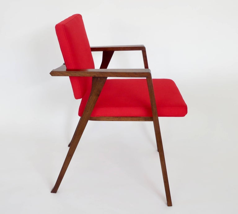 Franco Albini Luisa Italian Dining Chairs Set of Six for Poggi In Excellent Condition For Sale In Chicago, IL