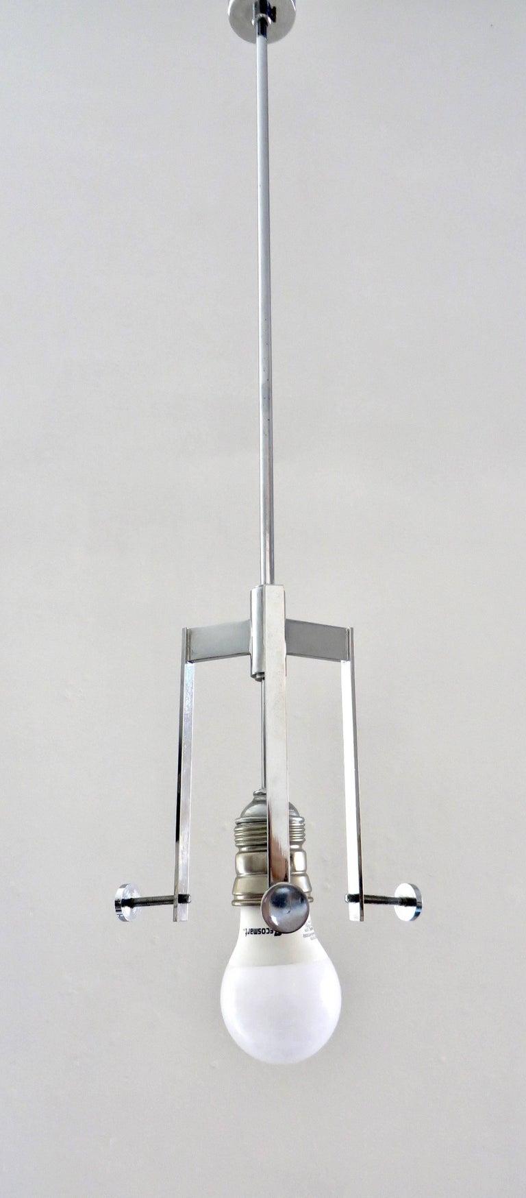 Opaline Glass Ignazio Gardella Pendant Fixture for Azucena Italy  For Sale