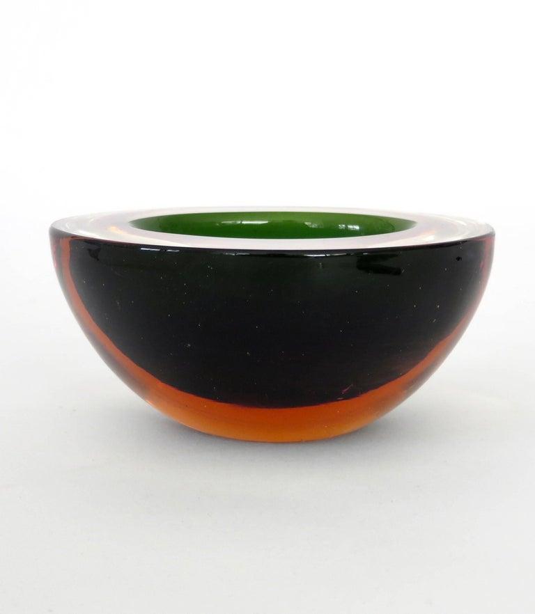 Flavio Poli Italian Sommerso Murano Glass Bowl For Sale 1