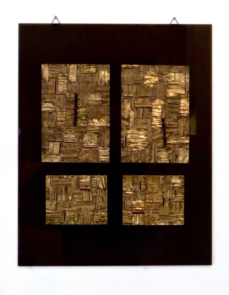 Bronze Wall Painting Sculptures by Esa Fedrigolli Italy 1985 Signed Numbered For Sale 3