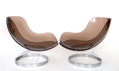 """Pair of  French """"Sphere"""" Lounge Chairs by Boris Tabacoff by Editions MMM 1971"""