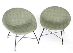 Pair of Italian Lounge Chairs by Augusto Bozzi for Saporiti Italia