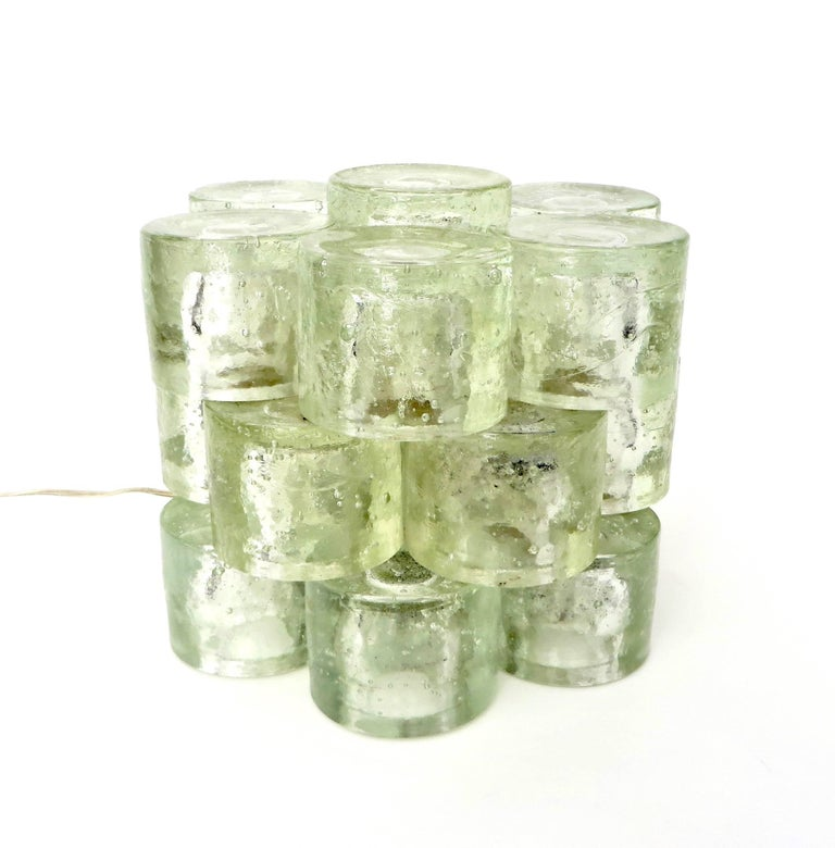 Poliarte Italian Sculptural Murano Glass Table Lamp  For Sale 4