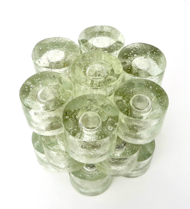 Poliarte Italian Sculptural Murano Glass Table Lamp  For Sale 3