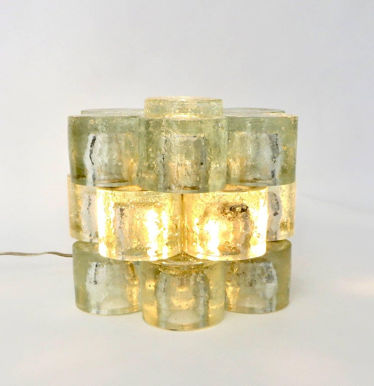 Mid-Century Modern Poliarte Italian Sculptural Murano Glass Table Lamp  For Sale