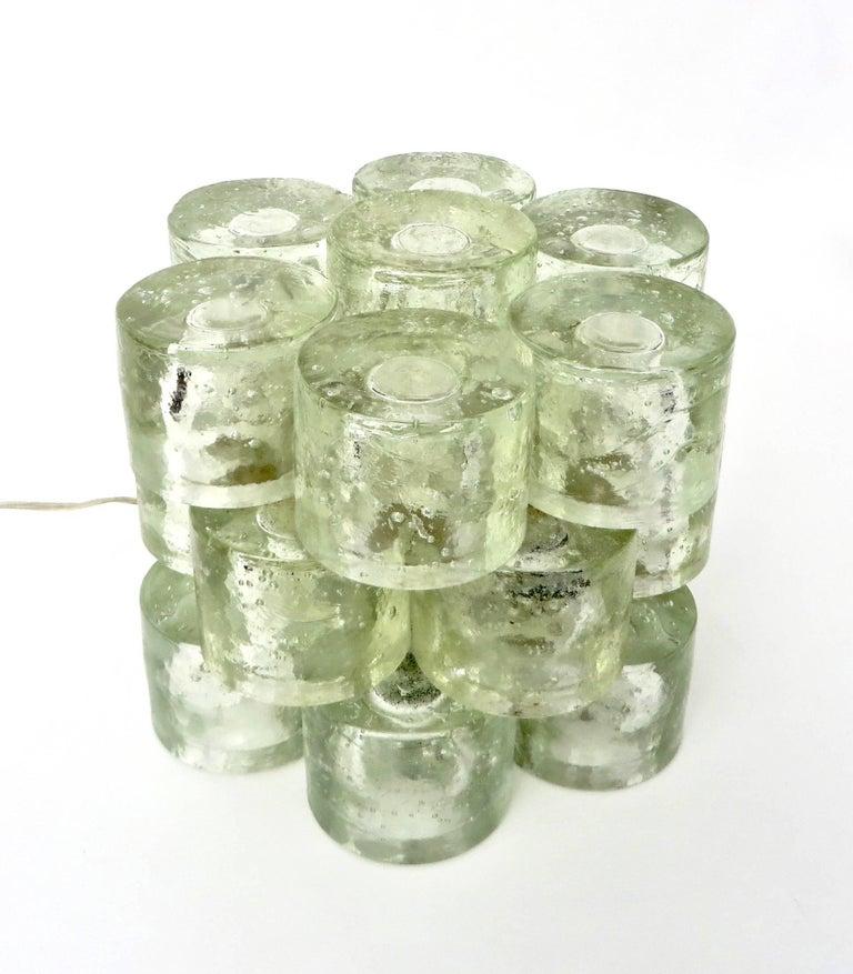Poliarte Italian Sculptural Murano Glass Table Lamp  For Sale 1