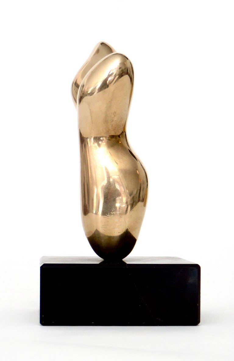 Mid-Century Modern Bronze Sculpture in the Style of Hans Arp For Sale