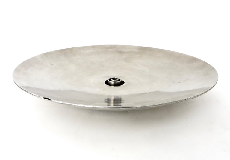 French Inox or Zinc Flower Dish In Excellent Condition For Sale In Chicago, IL