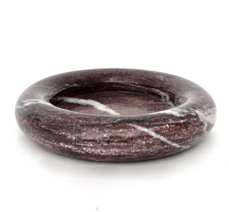 Up & Up Purple Italian Marble Bowl by Egidio Di Rosa & Pier Alessandro Giusti For Sale 1