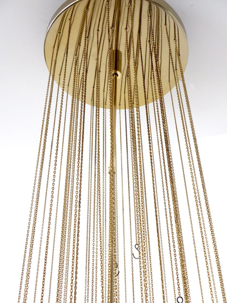 Mazzega Cascade Italian Murano Glass Extra Long Chandelier For Sale 1