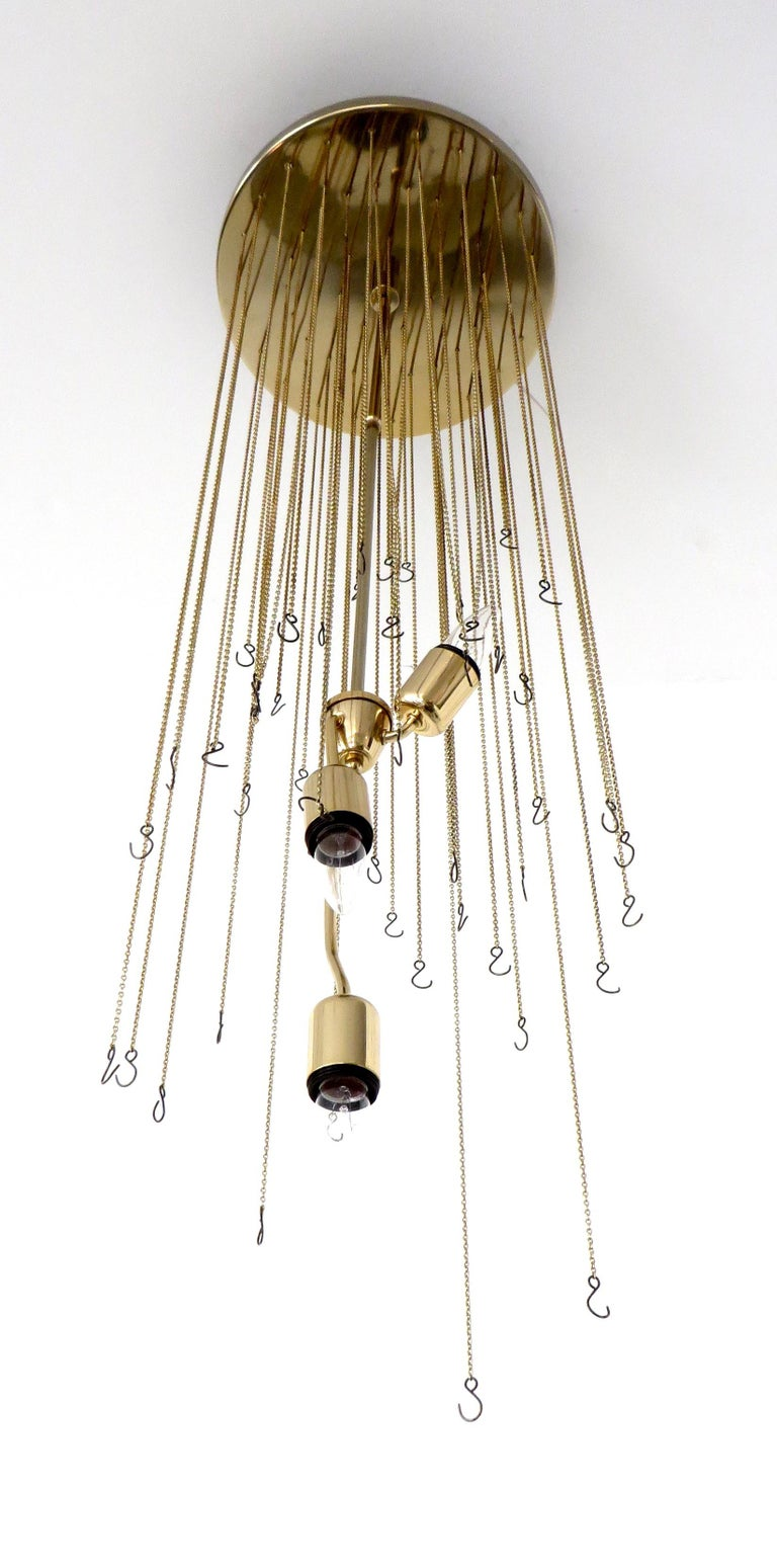 Mazzega Cascade Italian Murano Glass Extra Long Chandelier For Sale 4
