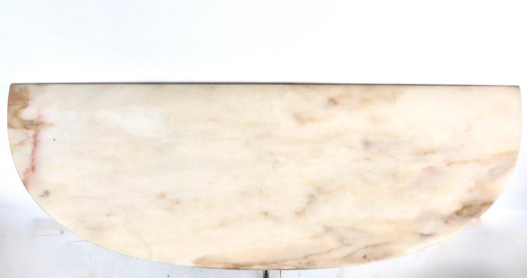 Paolo Buffa Attributed Italian Neoclassical Art Deco Wood and Marble Console For Sale 6