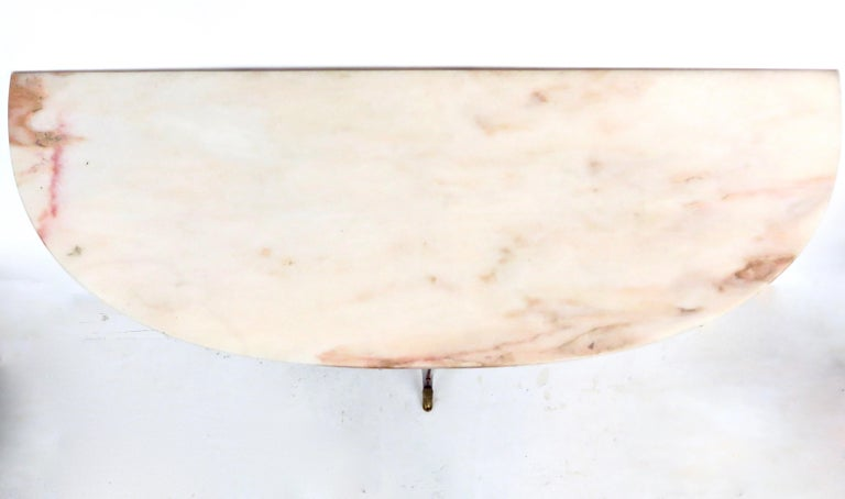 Paolo Buffa Attributed Italian Neoclassical Art Deco Wood and Marble Console For Sale 7