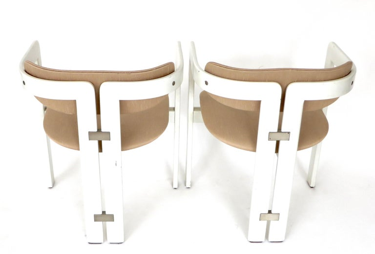 Pair of Pamplona Italian Chairs by Augusto Savini for Pozzi For Sale 4