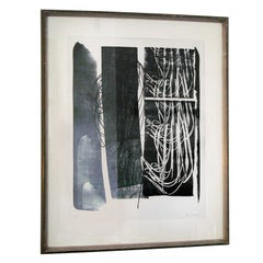 Abstract Lithograph by Artist Hans Hartung Edited by Galerie de France