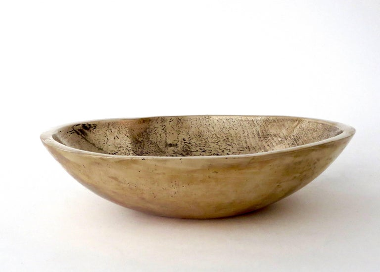 Bronze bowls by contemporary Chicago and Los Angeles based artist Elliot Bergman.