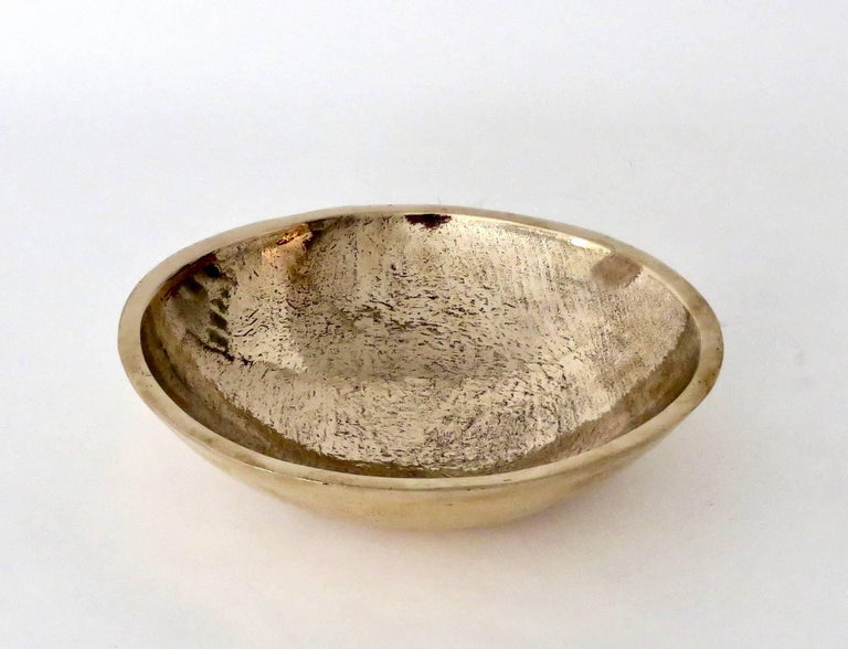 Contemporary Artist and Musician Elliot Bergman Bronze Bowl For Sale 1
