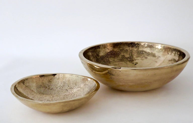 Contemporary Artist and Musician Elliot Bergman Bronze Bowl For Sale 3