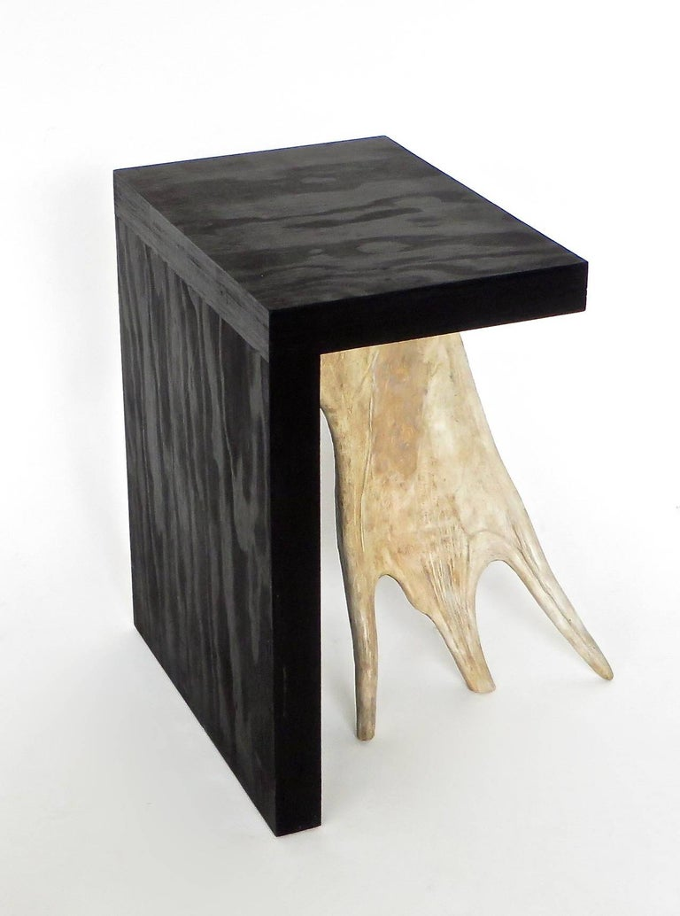 Modern Rick Owens Stag T Stool in Black Stained Wood For Sale