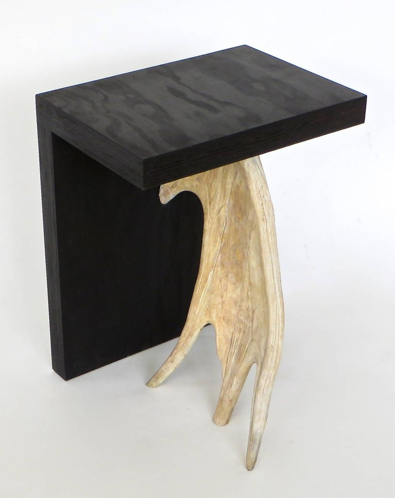 Rick Owens Stag T Stool in Black Stained Wood In Excellent Condition For Sale In Chicago, IL
