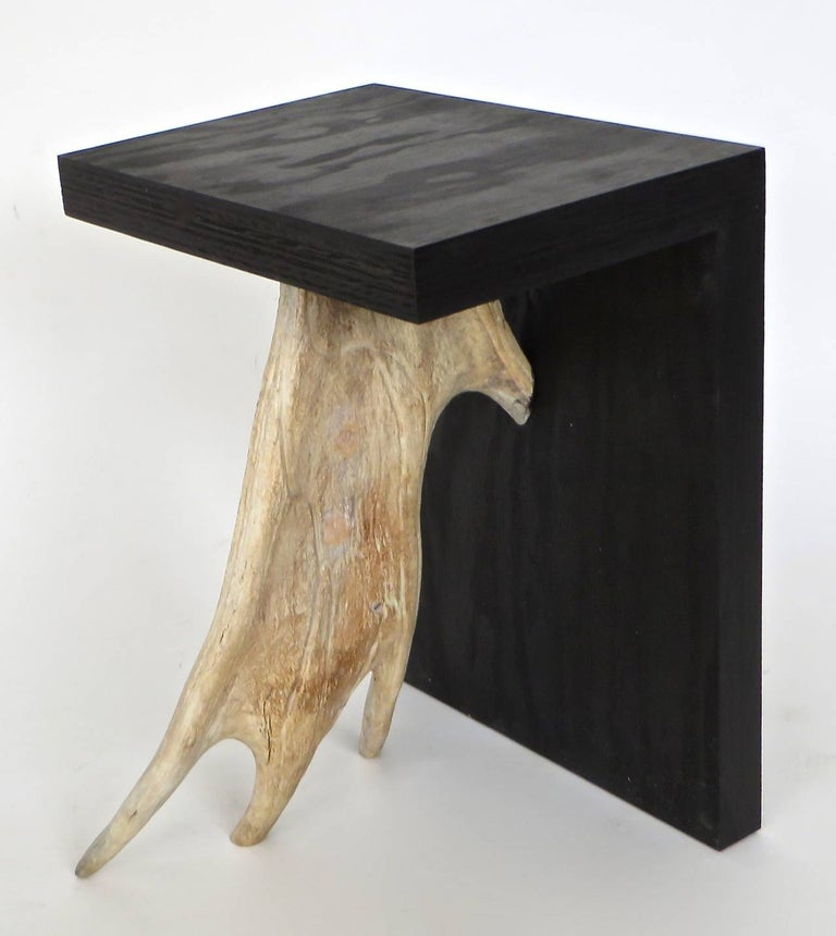 Plywood Rick Owens Stag T Stool in Black Stained Wood For Sale