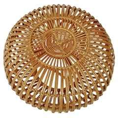 Italian Rattan Stool by Franco Albini and Franca Helg