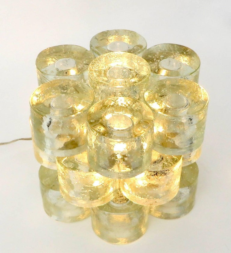 Poliarte Italian Sculptural Murano Glass Table Lamp  For Sale 12