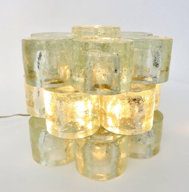 Poliarte Italian Sculptural Murano Glass Table Lamp  For Sale 7