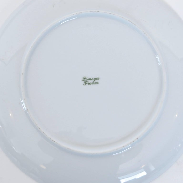 Jean Cocteau French Limoges Set of Four Ceramic Dessert Plates, circa 1958 For Sale 2