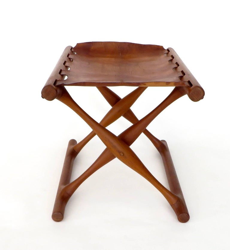 Mid-20th Century Poul Hundevad Danish Folding Stool PH 43 For Sale