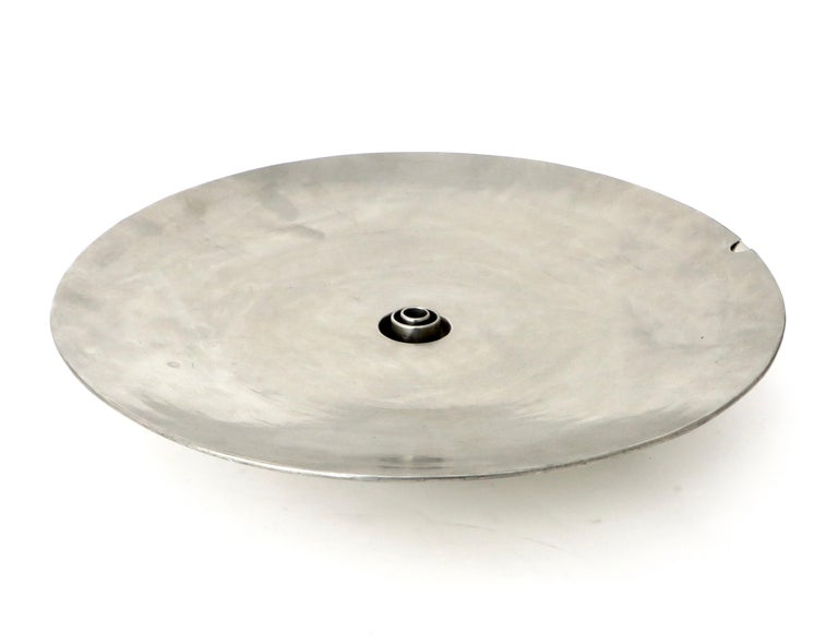 Pewter French Inox or Zinc Flower Dish For Sale
