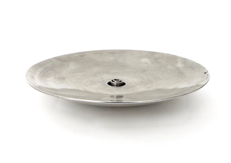French Inox or Zinc Flower Dish For Sale 3
