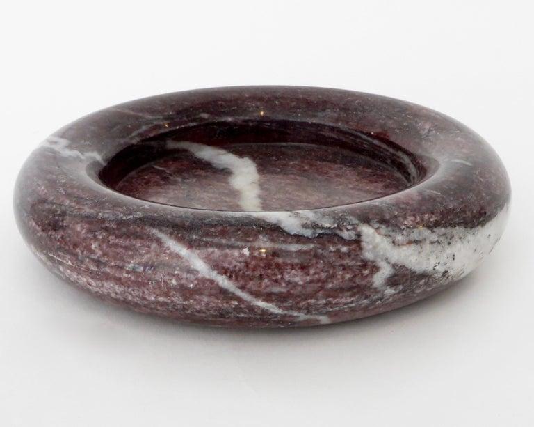 Up & Up Purple Italian Marble Bowl by Egidio Di Rosa & Pier Alessandro Giusti For Sale 2