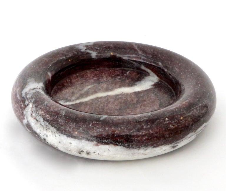 Up & Up Purple Italian Marble Bowl by Egidio Di Rosa & Pier Alessandro Giusti For Sale 5