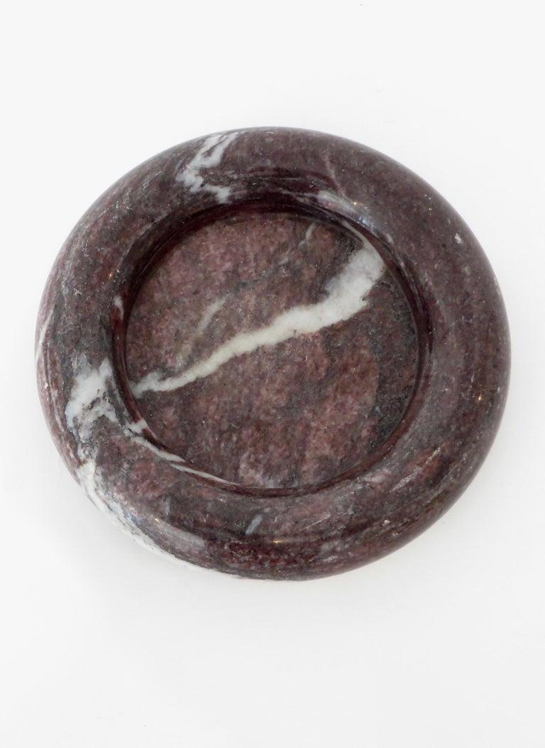 Up & Up Purple Italian Marble Bowl by Egidio Di Rosa & Pier Alessandro Giusti For Sale 4