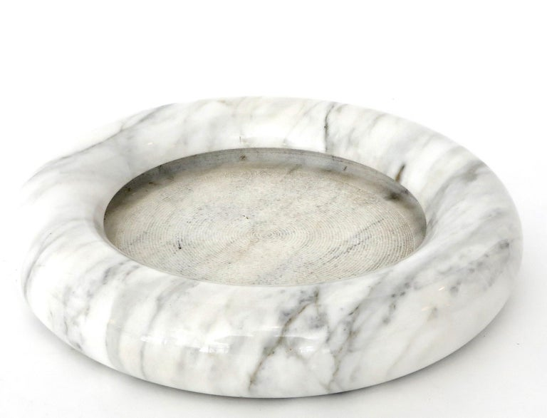Up & Up White Marble Dish or Bowl by Egidio Di Rosa and Pier Alessandro Giusti For Sale 4