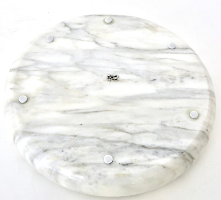 Up & Up White Marble Dish or Bowl by Egidio Di Rosa and Pier Alessandro Giusti For Sale 5