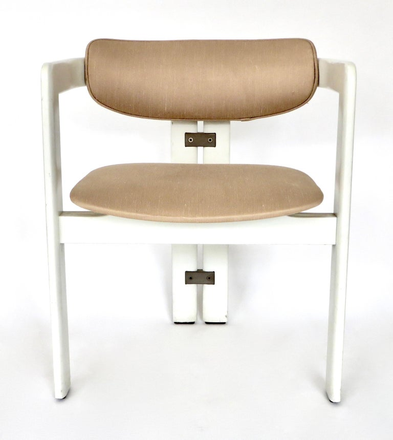 Pair of Pamplona Italian Chairs by Augusto Savini for Pozzi In Good Condition For Sale In Chicago, IL