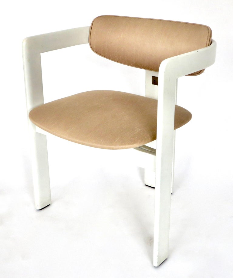 Pair of Pamplona Italian Chairs by Augusto Savini for Pozzi For Sale 5