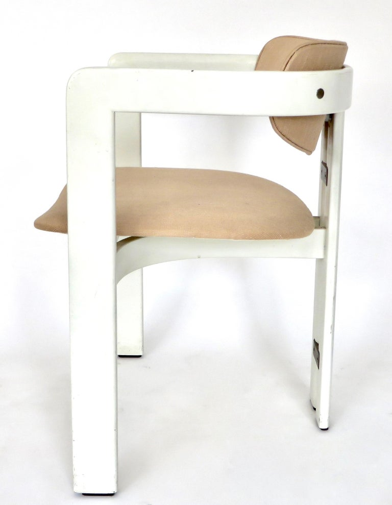 Wood Pair of Pamplona Italian Chairs by Augusto Savini for Pozzi For Sale