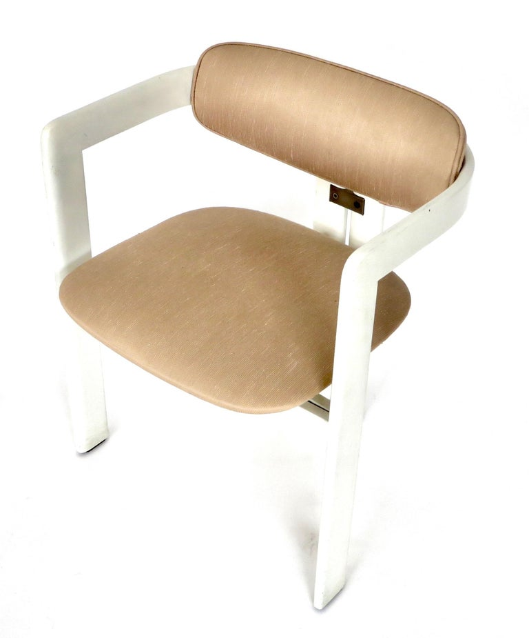 Mid-20th Century Pair of Pamplona Italian Chairs by Augusto Savini for Pozzi For Sale