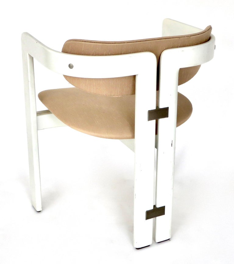 Pair of Pamplona Italian Chairs by Augusto Savini for Pozzi For Sale 7