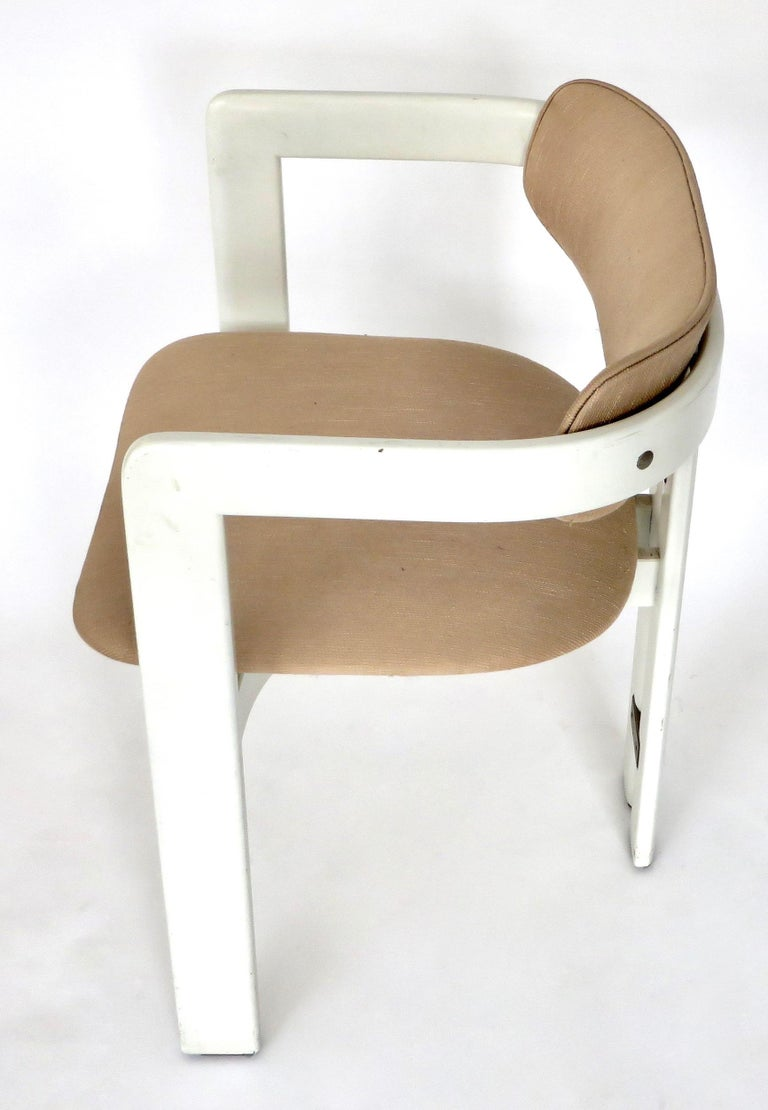 Pair of Pamplona Italian Chairs by Augusto Savini for Pozzi For Sale 6