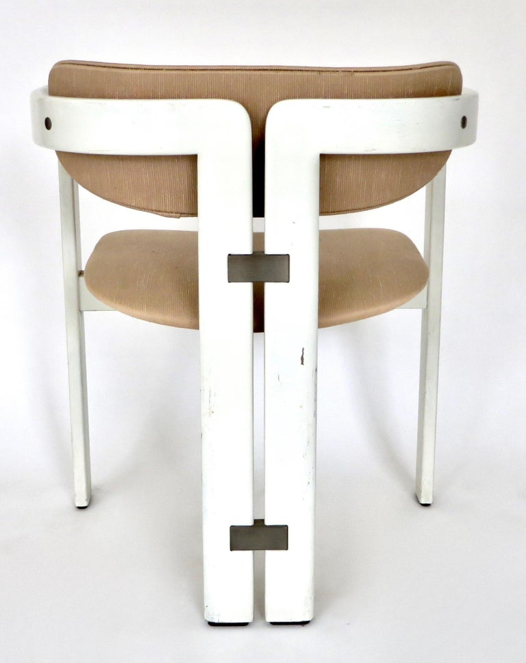 Pair of Pamplona Italian Chairs by Augusto Savini for Pozzi For Sale 9