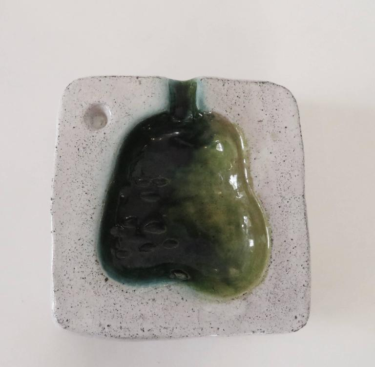 French Artist Georges Jouve Ceramic Cendrier or Vide Poche Pear  3