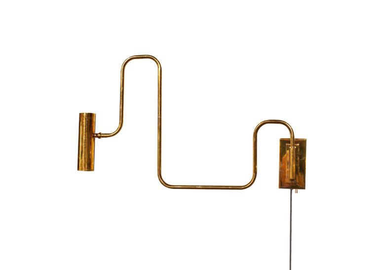 Contemporary Brass Handmade Pivot Light Wall Sconce Designed by Christopher Gentner For Sale
