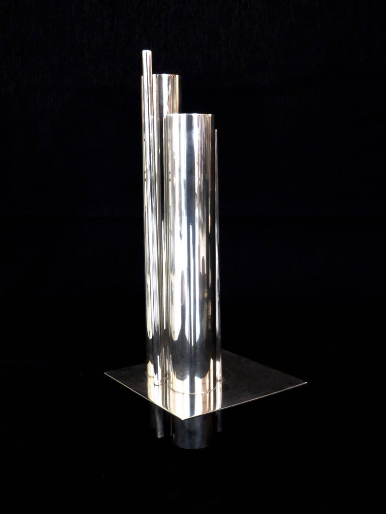 Gio Ponti Orgue Vase by Christofle Gallia Collection 4