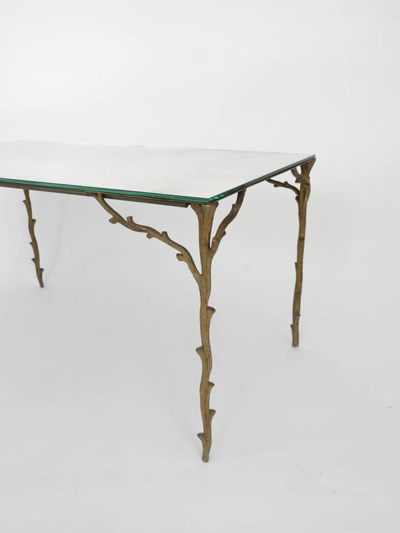 French Bronze Legged Organic Coffee Table by Maison Bagues For Sale 1