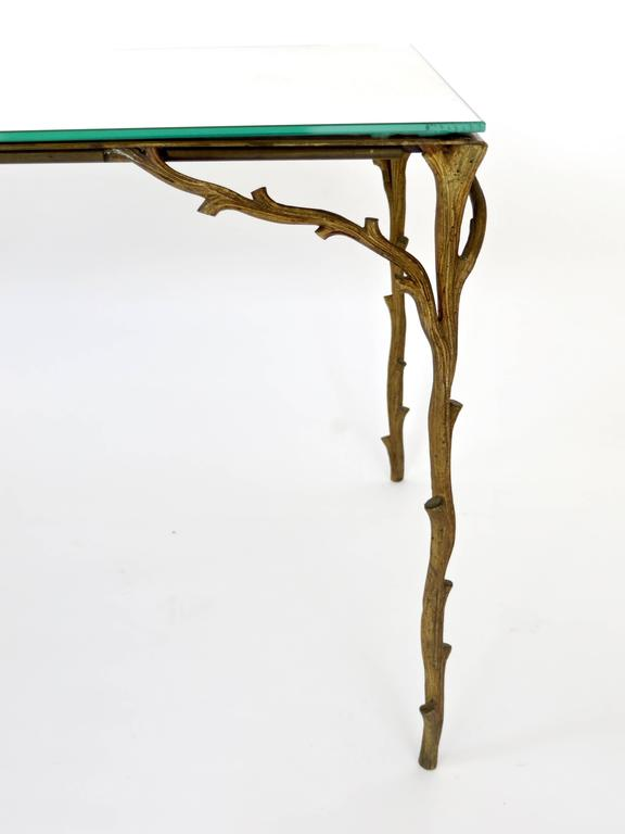 French Bronze Legged Organic Coffee Table by Maison Bagues For Sale 2