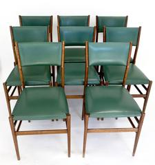 Set of Eight circa Early 1950 Leggera Dining Chairs by Gio Ponti for Cassina